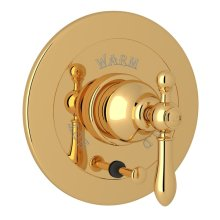 Italian Brass Arcana Integrated Volume Control Pressure Balance Trim With Diverter with Arcana Series Only Classic Metal Lever