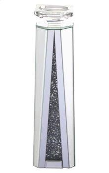 15.5 inch tall Crystal Candleholder Silver Royal Cut Crystal
