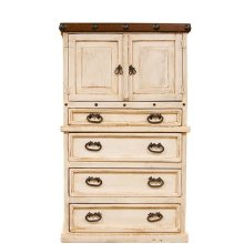 White/Walnut Don Carlos Chest