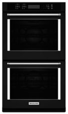 """27"""" Double Wall Oven with Even-Heat™ True Convection - Black Product Image"""