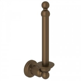 English Bronze Perrin & Rowe Edwardian Wall Mount Spare Toilet Paper Holder