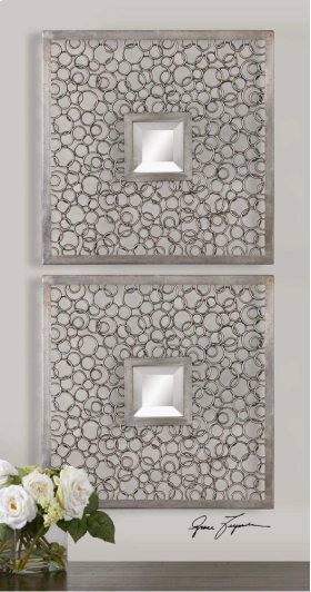 Colusa Squares Mirrored Wall Decor,