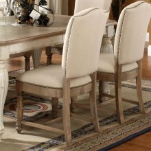 Coventry Two Tone - Upholstered Side Chair - Weathered Driftwood Finish