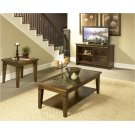 Oak & Slate 3-Pack - Cocktail Table & Two End Tables Product Image