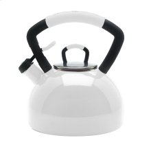 2.25 Quart Porcelain Enamel Teakettle - White