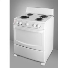 White Pearl electric range with coil elements