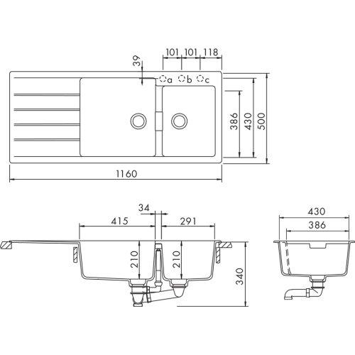 Polaris Built-in sink Signus D-175