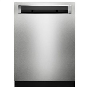 KitchenAidKitchenAid® 39 DBA Dishwasher with Fan-Enabled ProDry™ System and PrintShield™ Finish, Pocket Handle - PrintShield Stainless