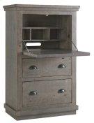 Armoire Desk - Distressed Dark Gray Finish Product Image