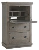 Armoire Desk - Distressed Dark Gray Finish Product Image