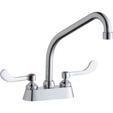 "Elkay 4"" Centerset with Exposed Deck Faucet with 8"" High Arc Spout 4"" Wristblade Handles Chrome"