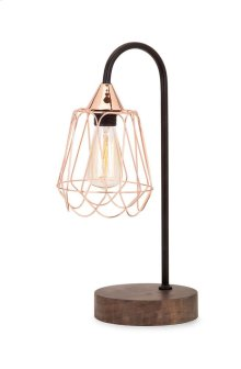 Tilton Copper and Wood Table Lamp