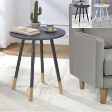 Heidi Chairside Round Table Grey