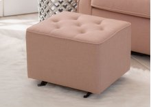Emma Diamond Tufted Nursery Gliding Ottoman - Blush (636)