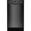 "18"" Special Application Recessed Handle Dishwasher 300 Series- Black Product Image"