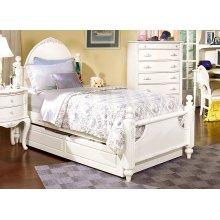 French Style Poster Bed Shown With Optional Trundle
