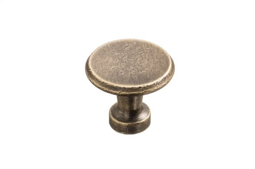 "1 1/16"" Knob - Distressed Antique Brass"