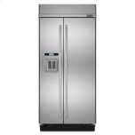 """JENN-AIR48"""" Built-In Side-by-Side Refrigerator with Water Dispenser"""