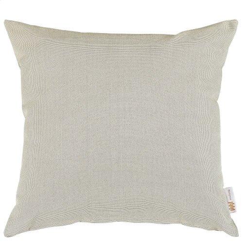 Convene Two Piece Outdoor Patio Pillow Set in Beige
