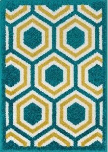 Peacock / Citron Rug
