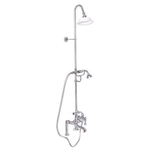 Tub Filler with Diverter Hand-Held Shower and Riser - Lever / Polished Chrome