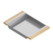 Colander 205329 - Stainless steel sink accessory , Maple
