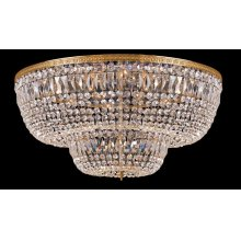 24 Light Clear HandCut Crystal Ceiling Mount