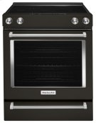 30-Inch 5-Element Electric Convection Front Control Range - Black Stainless Product Image