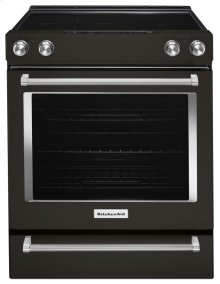 30-Inch 5-Element Electric Convection Front Control Range - Black Stainless