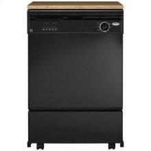 Black Console/Reversible Panel Whirlpool® Portable Dishwasher
