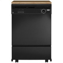 Black Console/Reversible Panel Whirlpool® Portable Dishwasher