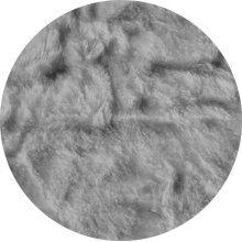 Cover for Pillow Pod or Footstool - Faux Fur - Grey