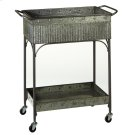 Two Tier Galvanized Cart on Wheels Product Image