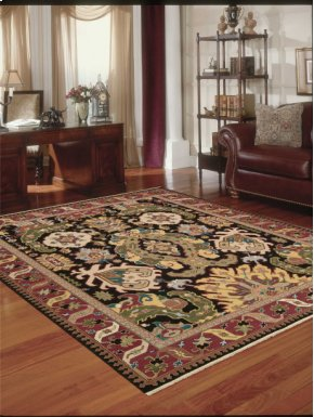 Nourmak Sk70 Black Rectangle Rug 9'10'' X 13'10''