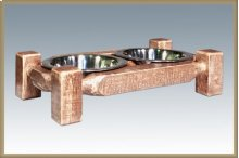 Homestead Small Pet Feeder - Stained and Lacquered