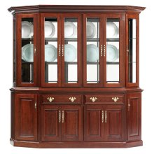 """89"""" Queen Victoria Canted Hutch & Buffet"""
