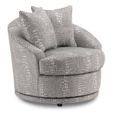 ALANNA Swivel Barrel Chair