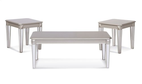 4400 Mirror Leg 3pc Table Set
