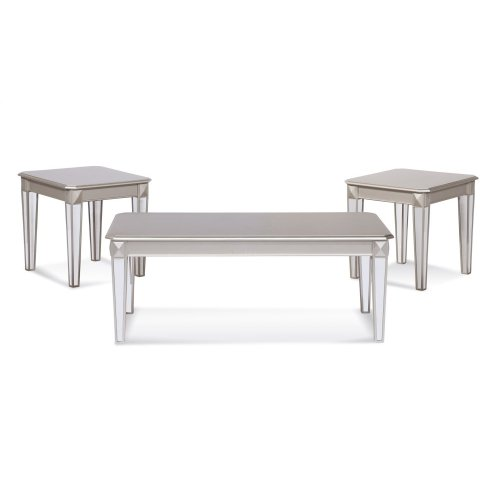 4400 Mirror Leg 3pc Table Set