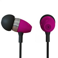 Polaroid Metal Smartphone Stereo Earbuds with Built-In Microphone - PHP729-PK , Pink