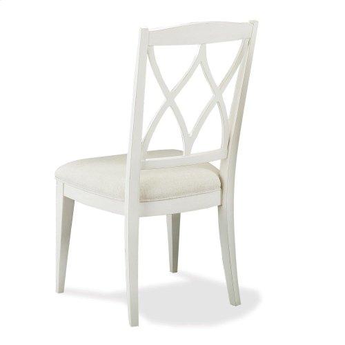 Myra - Xx-back Upholstered Side Chair - Paperwhite Finish