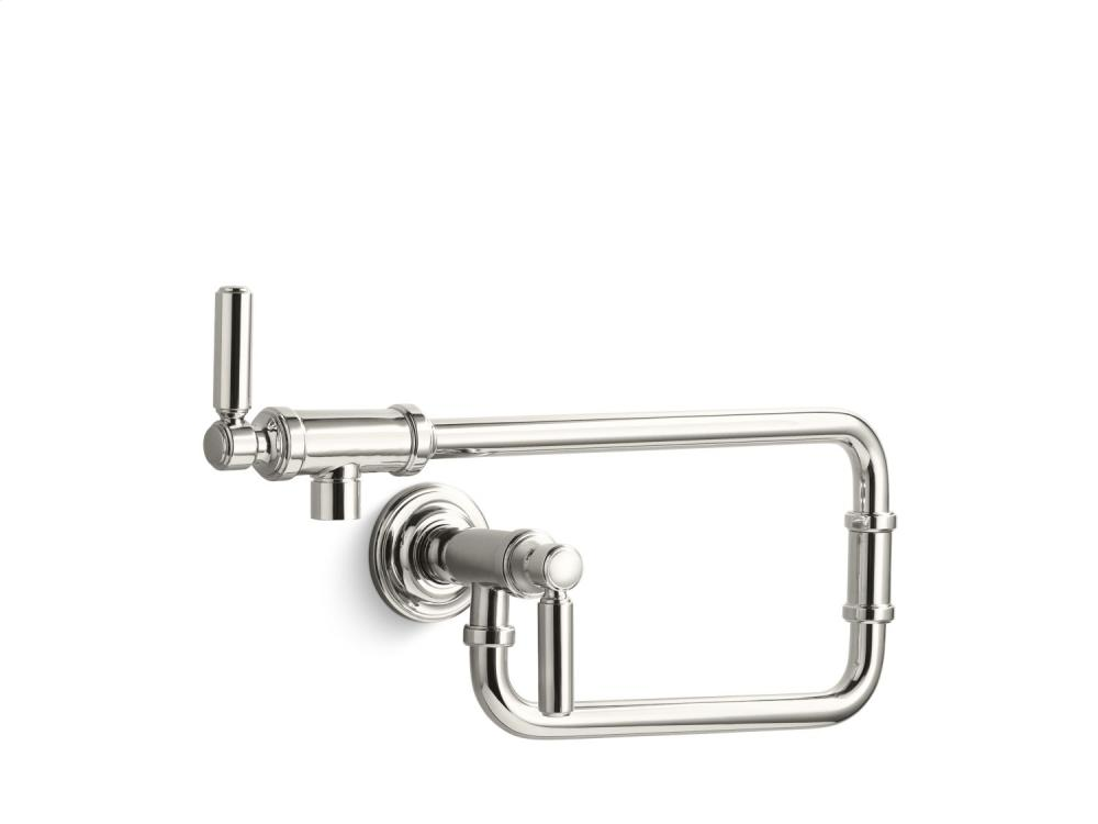 Wall-Mount Pot Filler - Nickel Silver