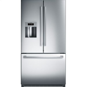 "Bosch800 Series 36"" Freestanding Standard-Depth French Door Refrigerator, B26FT50SNS, Stainless Steel"