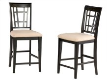 Montego Bay Pub Chairs Set of 2 with Oatmeal Cushion in Espresso
