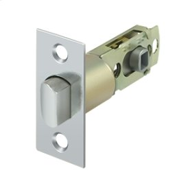 Square Latch Adj. Privacy/Passage - Polished Chrome