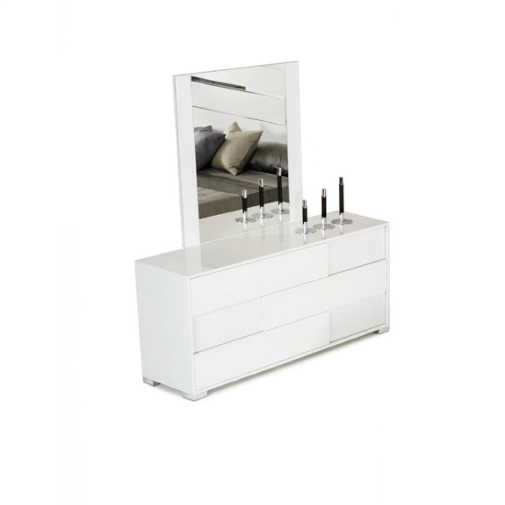 Modrest Ancona Italian Modern White Mirror