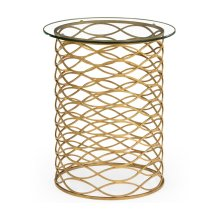 Interlaced Gilded & Glass Side Table