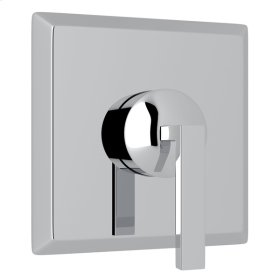 Polished Chrome Wave 4-Port, 3-Way Diverter Trim with Metal Lever