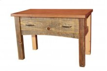 Reclaimed Luggage Bench 1 Drawer