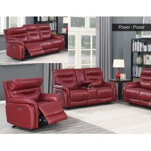 "Fortuna Recliner Pwr/Pwr Wine 38.5""x38""x41"""